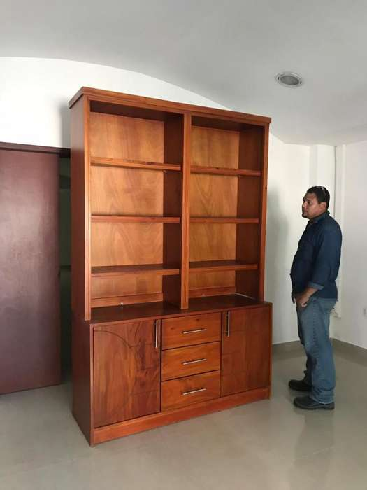Biblioteca de Madera Pura