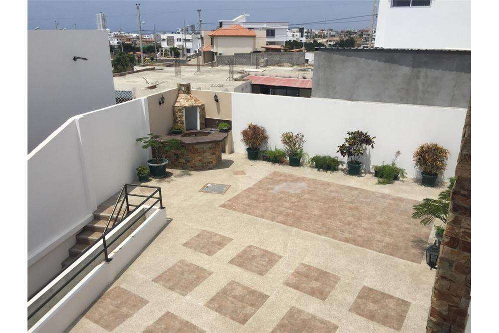 casa de alquiler en urbanización zona sur manta