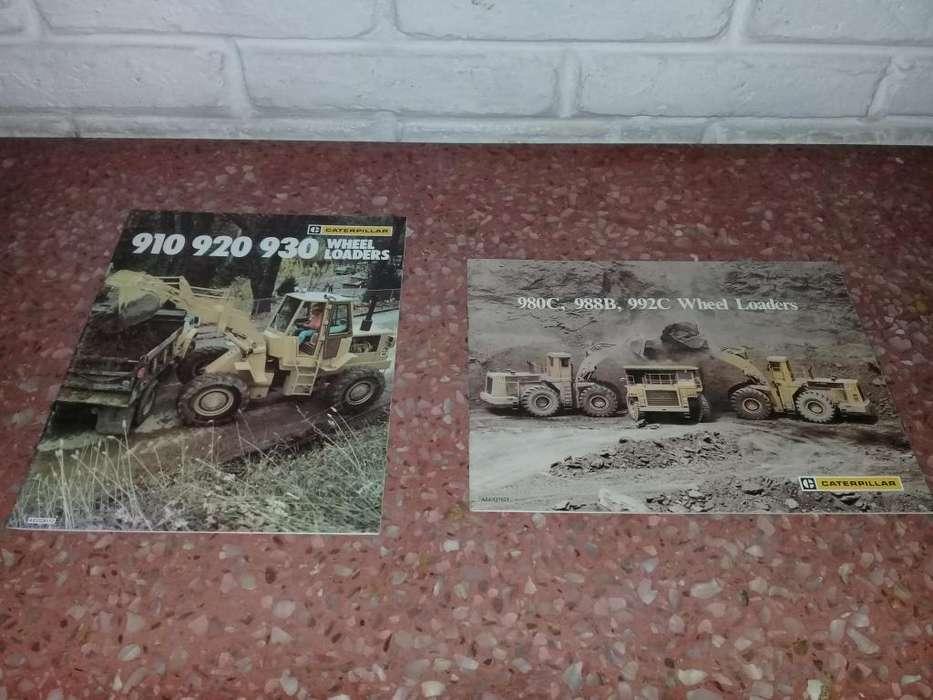 2 Catalogos De Pala Cargadoras Caterpillar