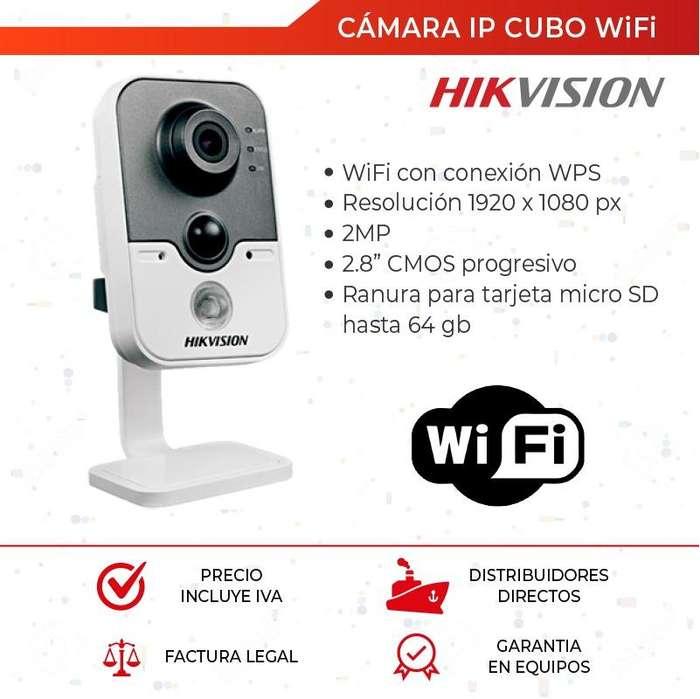Camara Ip Hikvision Wifi. Camara Cubo 2mp. Camara con Microfono. CCTV. <strong>video</strong> Vigilancia
