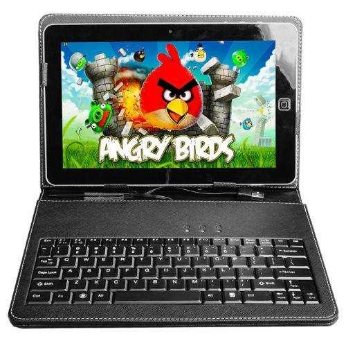 TABLET CON FUNDA TECLADO 7 PULG ANDROID DOBLE <strong>camara</strong> FLASH QUAD CORE RAM 1 GB ROM 8 GB NUEVAS GARANTIA