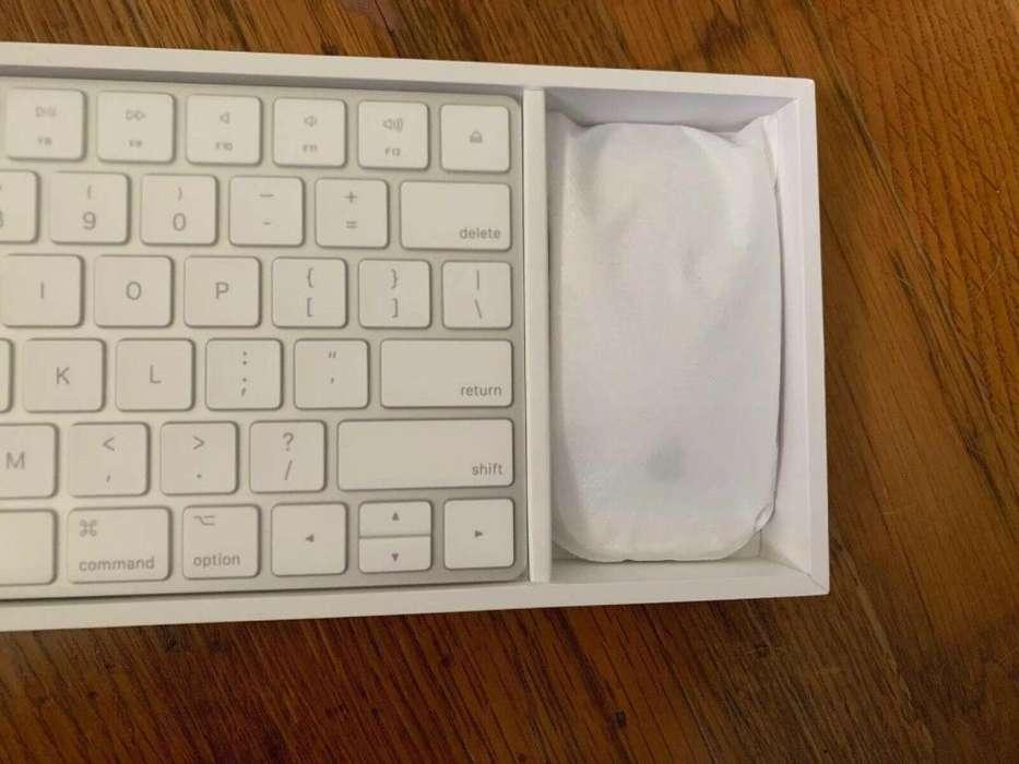 Teclado y mouse inalambrico apple imac nuevo modelo 2
