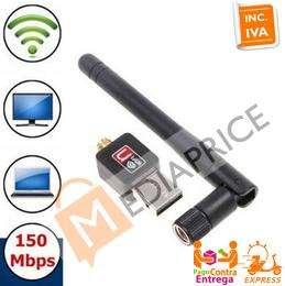 Mini Adaptador Wifi Usb Antena Wireless 150mbps