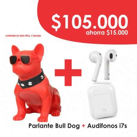 COMBO Parlante Bull Dog Audifonos