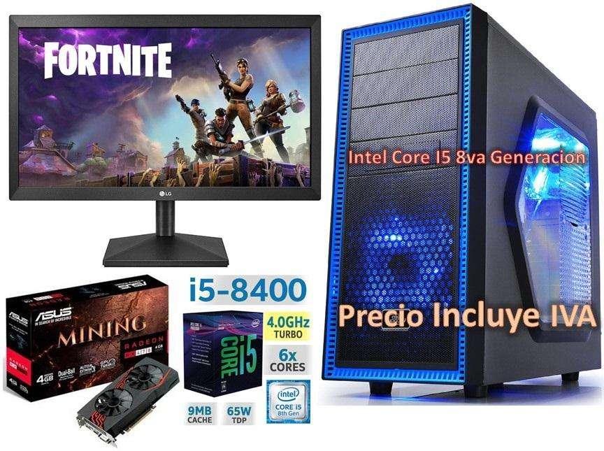 Computador Cpu Gamer Intel Core I5 8va Gen 2tb 16gb RX470 4GB Led 20 PRECIO INCLUYE IVA ENTREGA A DOMICILIO