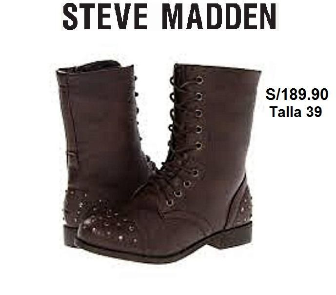 b25dd70ad52 botas STEVE MADDEN GISSELE BROWN leather DAMAS - Lima