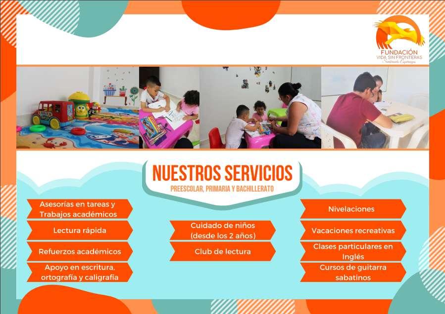 Asesorías académicas y cuidado de niños desde los dos años