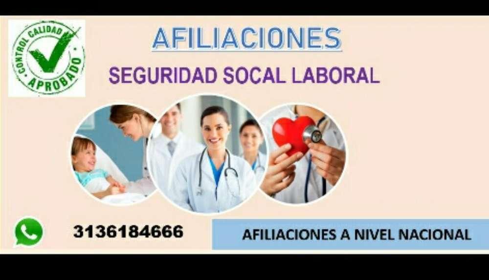 Afiliaciones Arl Eps Caja desde 95mil