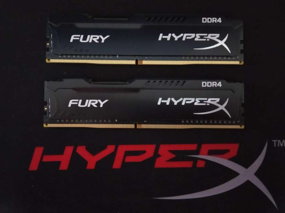 Memoria RAM DDR4 Kingston HyperX FURY 2x4gb 2400mhz modelo HX424C15FB/4