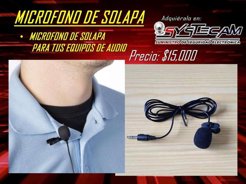 Microfono de solapa para tus equipos de audio
