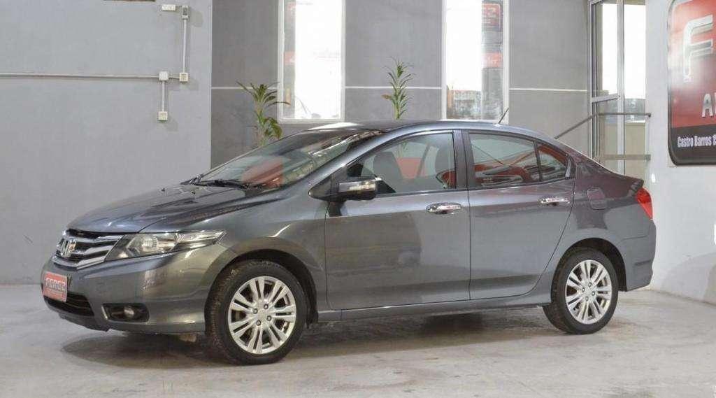 Honda City 1.5 exl automatico nafta 2013 4 puertas color gris