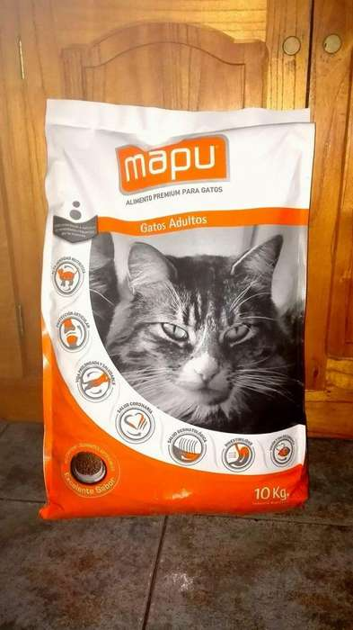 Alimento Mapu Gato Adulto 10 Kg
