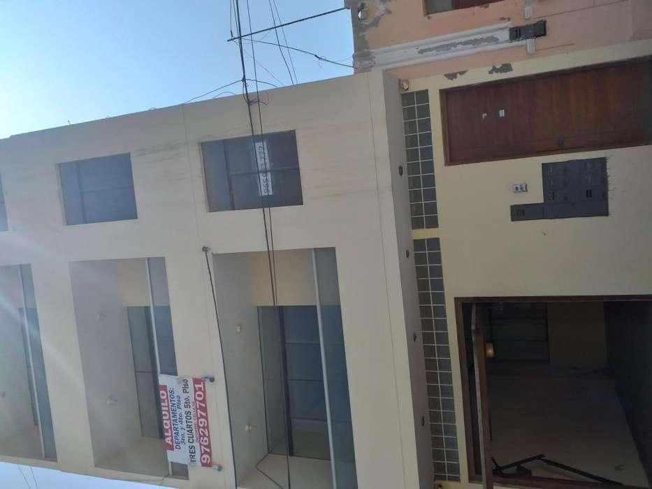 alquiler departamentos y cuartos Pimentel, con baño, amplia sala y balcón