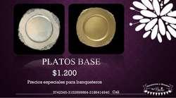 Alquiler de Platos Base para Eventos