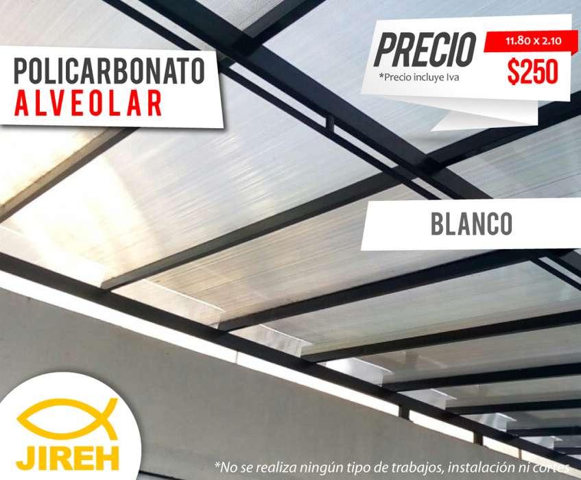Policarbonato Jireh Blanco 8mm en Quito, Techos, Alucobond, Acrílico, Cielo raso PVC