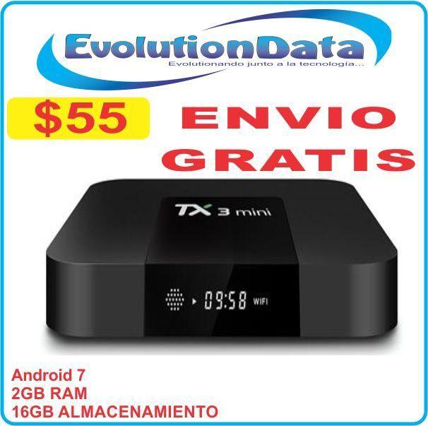 Envio Gratis Smart TV TX3 Mini TV BOX 2GB RAM 16GB Almacenamiento Android 7 Netflix
