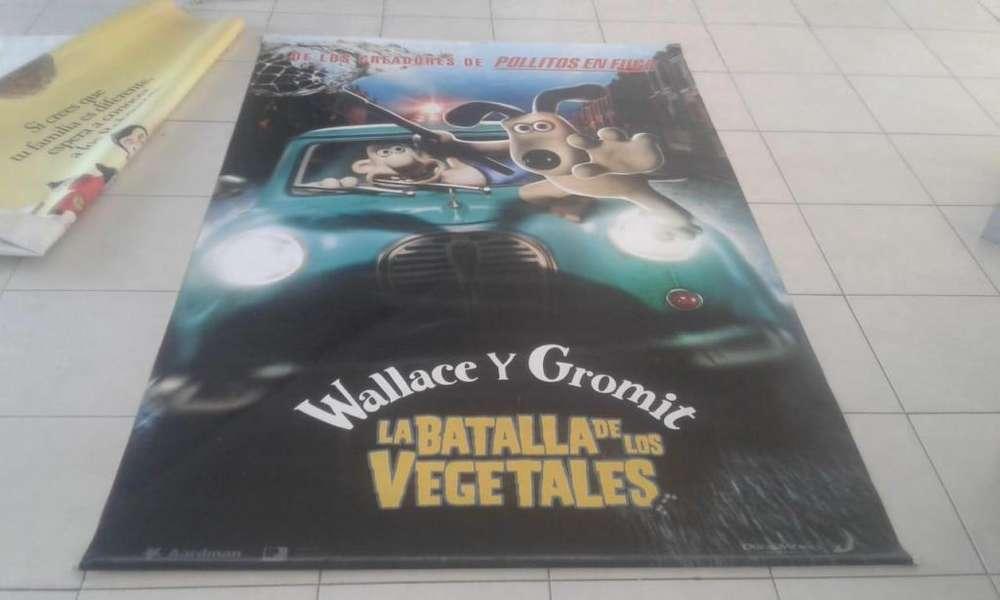 Poster Banner de Lona de Wallace Y Gromit: La Batalla De Los Vegetales
