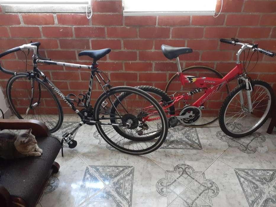 2 Bicicletas Ruta y Montana