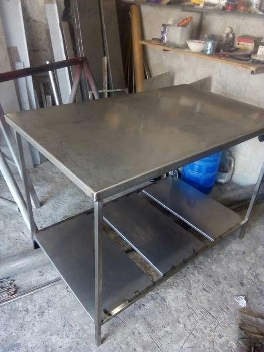Mesa de Monel Inoxidable Nueva 80x110