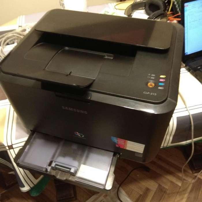 Impresora Laser Color SAMSUNG CLP 315 TONERS ORIGINALES NUEVOS, CILINDRO NUEVO
