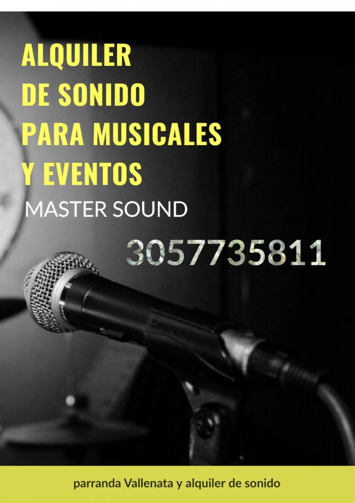 ALQUILER DE SONIDO MASTER'S'OUND BUCARAMANGA,GIRON, FLORIDA ,PIEDECUESTA Y SANTANDER