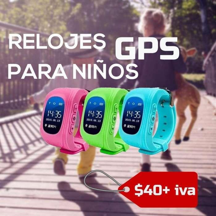 RELOJ GPS PARA NIÑOS / RASTREO SATELITAL PARA NIÑOS / RELOJ ANTI RAPTO PARA NIÑOS