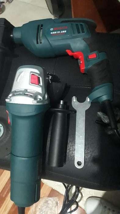 Combo de Taladro Y Pulidora Bosch Nuevos