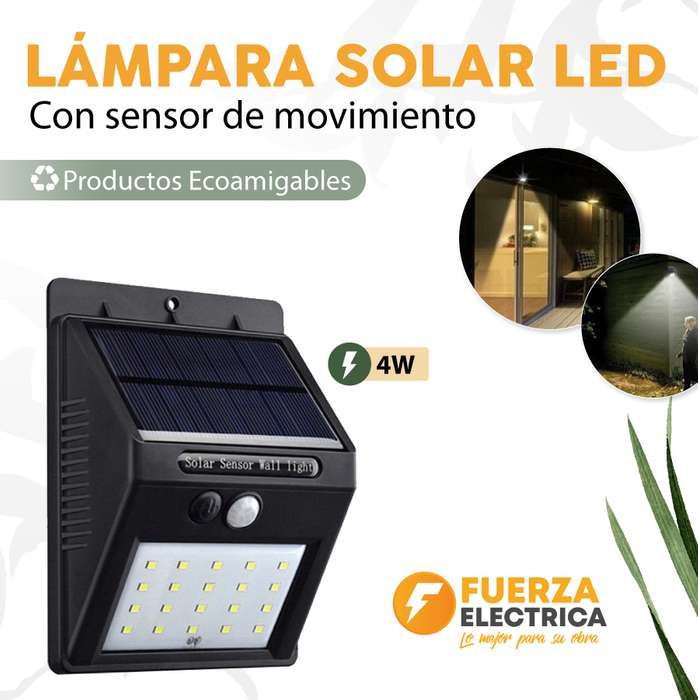 Lámpara solar led 4 w