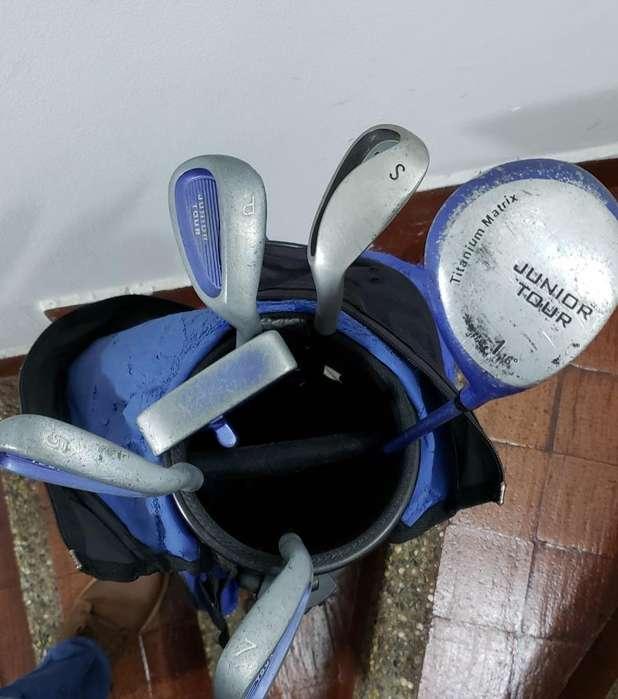 Talega con 6 Palos Golf Usa para Niños
