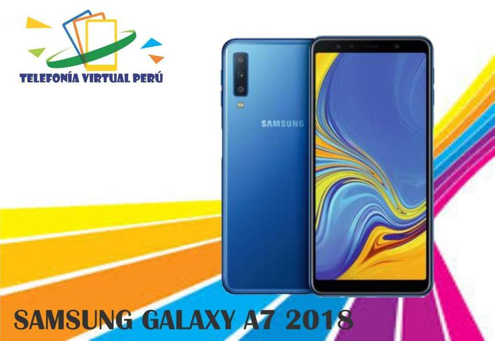 SAMSUNG GALAXY A7 2018 64GB/4RAM NUEVO CÓMODO Y SELLADO SOMOS TELEFONÍA VIRTUAL PERU