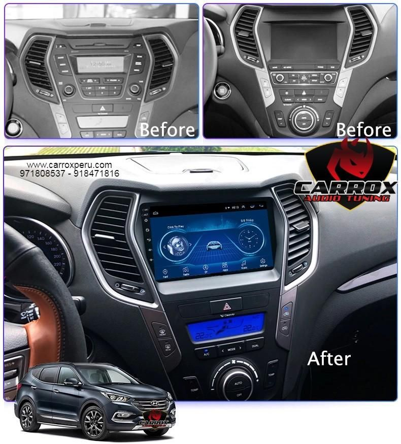 SANTA FE 2013 AL 2017 ANDROID WIFI AUTORADIO HYUNDAI USB, GPS, BLUETOOTH, MP4, MP3