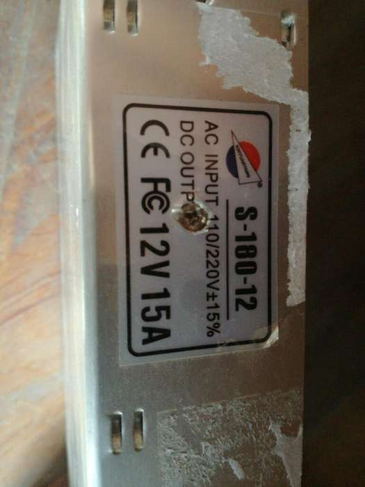 Fuente Switching 12v 15a