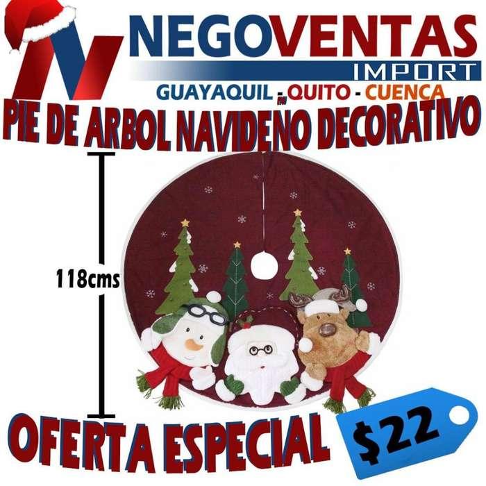 PIE DE ÁRBOL NAVIDEÑO DECORATIVO PRECIO OFERTA 22,00