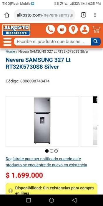 Nevera Samsung Nueva 327 Lt, Buen Precio