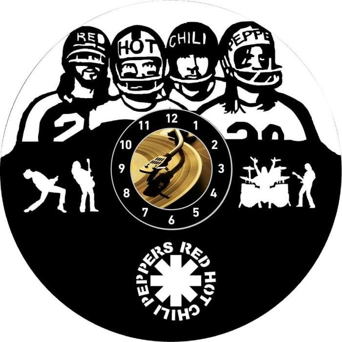 Red Hot Chili Peppers Reloj en Disco Acetato