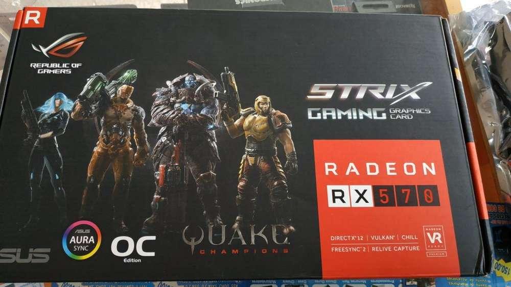 TARJETA DE VIDEO RX 570 4GB ASUS STRIX USADA