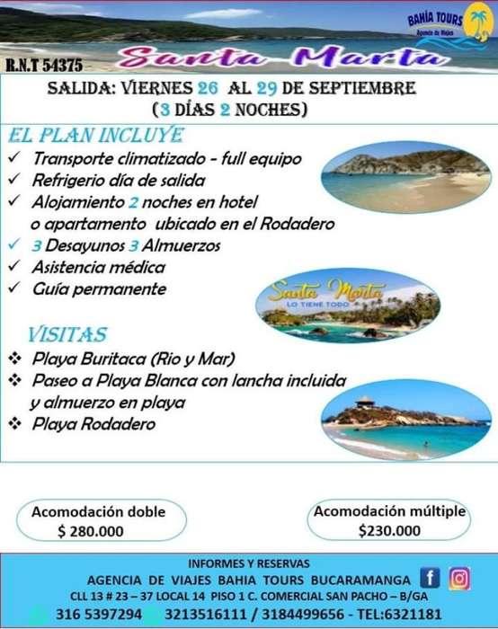 Tour Santa Marta O Cartagena 26 Septiemb