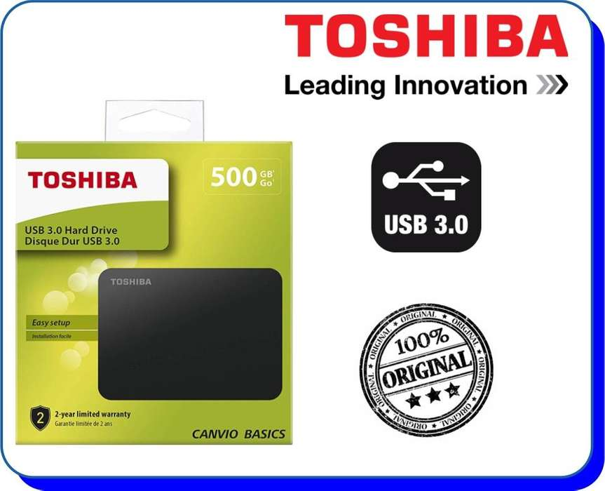 Disco Duro Externo Toshiba Canvio Basics 500GB USB 3.0
