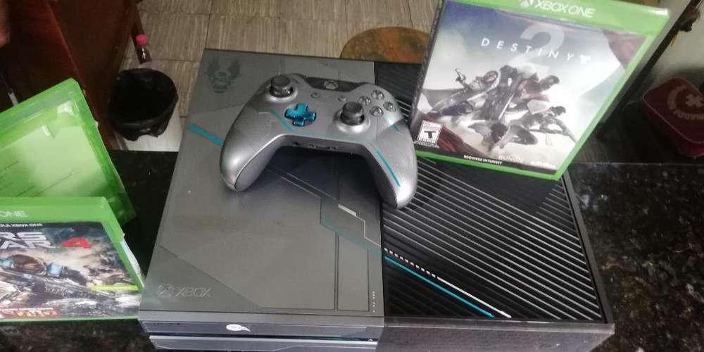 Xbox One con Un Control Y Un Juego Orig