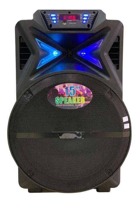 Cabina Sonido Recargable Cm&s Bluetooth Parlante Audio 15''