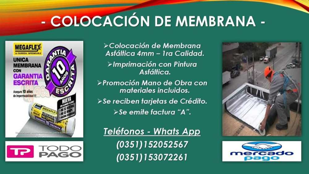 COLOCACIÓN DE MEMBRANA ASFALTICA