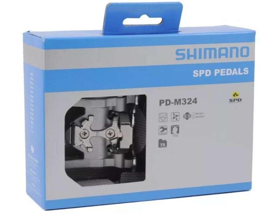 Pedal Shimano Spd M324 Doble Funcion Mtb