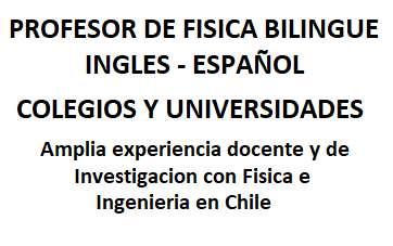 Clases de Física Secundaria y Universitaria - Ingles y Español