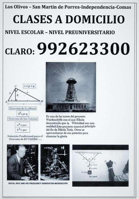 CLASES EN MATEMATICAS-FISICA ,SUPERIOR Como Geometrìa Descriptiva,CamposElectro,Radiacion yPropagacion Electromagnetica