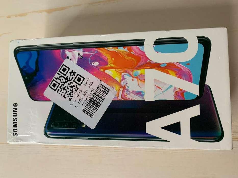 Telefono <strong>samsung</strong> A70 nuevo original en oferta