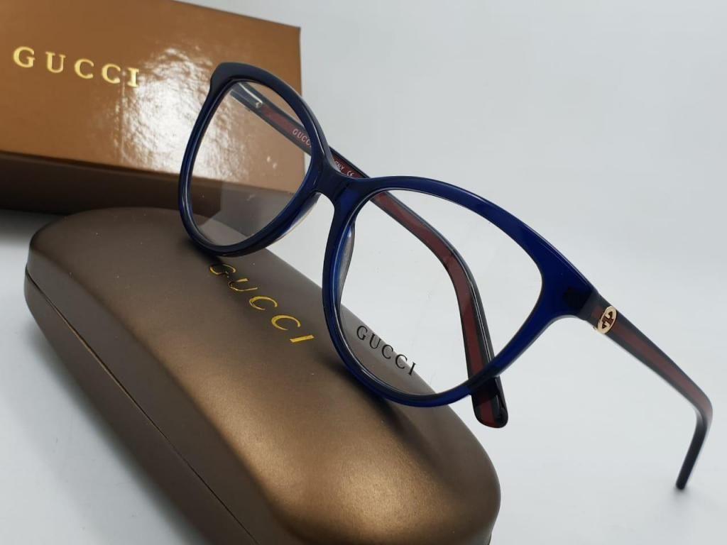 cd39e91bcb monturas gafas gucci redondas azules mujer agatadas - Bogotá