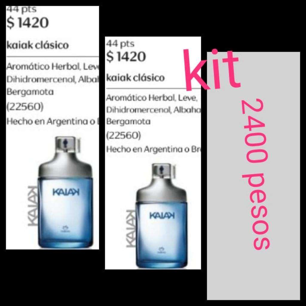Kit Kaiak Clasico Hombre de 100 Ml