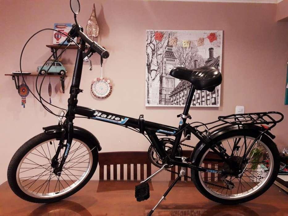 Bicicleta Plegable Rodado 20 Halley