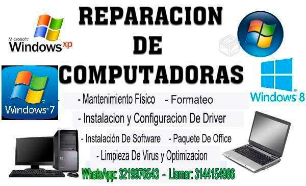 Promocion en Mantenimiento computadores