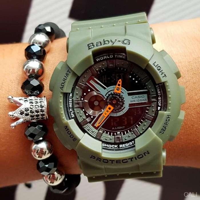Reloj Casio Baby-G color verde militar para mujer